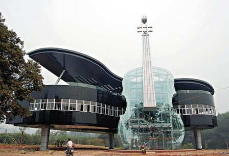 Piano and guitar building structure in China